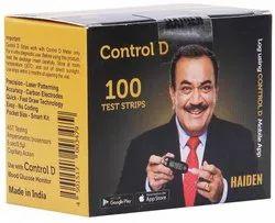 Paper Control D Glucometer Strip, 100