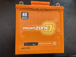 Capacity: 5 Ah 2W two Wheeler Battery Powerzone, PZ-48PZTX50