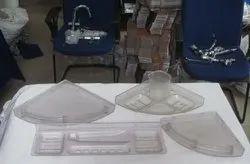 jiva transparent Unbreakable Plastic Bathroom Accessories, For Residential, Size: Medium