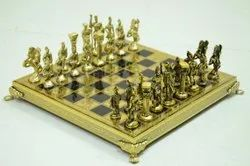 Brass Chess Set With Pieces