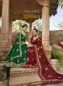 Embroidered, Butta Plain Ajmera Saree By Triveni, Dry Clean, 6 M (with Blouse Piece)