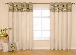Cotton Plain Designer Room Curtain, For Window
