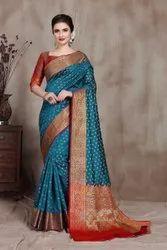 Present Soft Lichi Silk Designer Saree