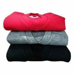 V Neck Men Plain Woolen Sweaters, Size: S-xl