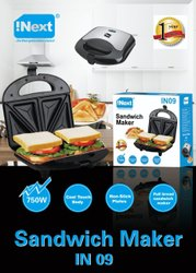 Inext IN09 Sandwich Maker, Voltage: 220V, Power: 750W