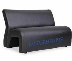 Black Cousion Airport Waiting Chair / Sofa Waiting / Sofa / Office Sofa, Seating Capacity: 2 Seater