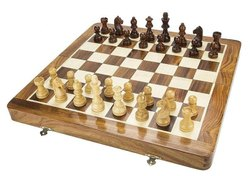 Nirmala Handicrafts Wooden Magnetic Chess Set With Coins