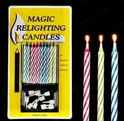 蜡魔蜡烛,蛋糕装饰,尺寸:2英寸