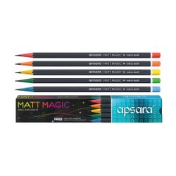 Black Wood Apsara Matt Magic Pencil, For School, Packaging Size: 5 Pcs