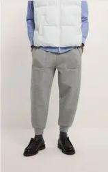Cotton/Linen Gray Mens Cotton Jogger