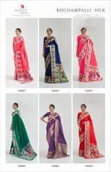 Ank Enterprise 6 Color Designer Wedding Wear Paithani Design Saree, With Blouse Piece, 6.3 With Blouse