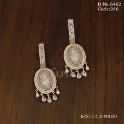 Fusion Arts American Diamond Hanging Earrings