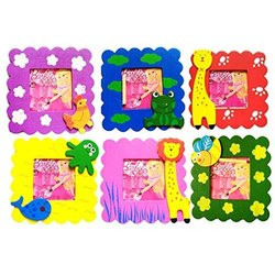 Multicolor Wooden Animal Printed Photo Frame, For Gift Purpose