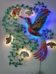 Peacock Design Metal Wall Decor