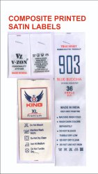 Composite Printed Satin Label