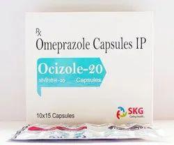 Omeprazole I.P 20mg Capsules, 10*15, Prescription