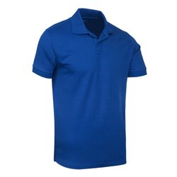 Plain Polyester Men Collar Polo Neck T Shirt, Size: Large