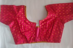 Stitched Pink Ikkat Blouse