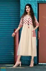Silk India Ladies Cotton Kurtis, Wash Care: Dry clean
