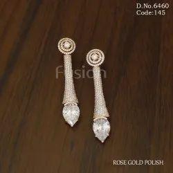 Fusion Arts American Diamond Long Earrings