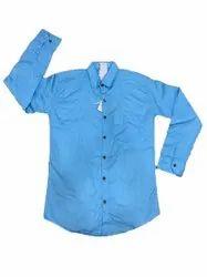 Cotton Blendid Plain Mens Full Sleeves Shirt