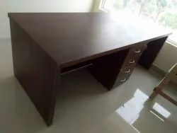 Brown Rectangular Office Computer Table
