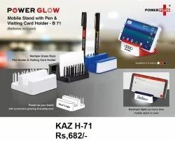 Power Glow Moblie Stand With Pen & Visiting Card Holder