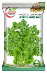Gujarat Seeds Green Imported Coriander Seed, Packaging Type: Packet, Packaging Size: 500 gm