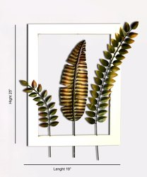 Metal Handcrafted Leaf Frame, Size: 25 Inch X 19 Inch