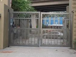 Polished Stainless Steel Entrance Gate