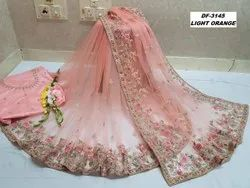 Presetn Heavy Net Saree With Coding Embroidery Coding Work