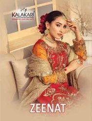 Khayyira Suits Zeenat Fox Georgette With Work Pakistani Suit Catalog