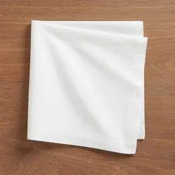 Plain White Cotton Napkin, Size: 16x16 Inches