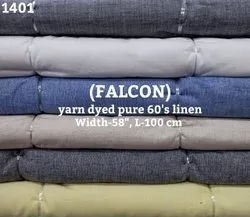 Falcon Yarn Dyed Pure 60's Linen Shirting Fabric