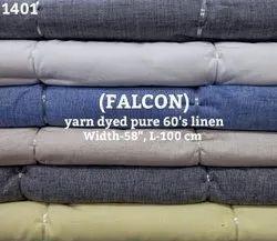 Falcon Yarn Dyed Pure 60's Linen Shirting Fabric