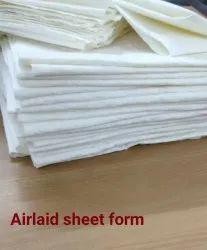 White Airlaid Tissue Paper Sheet, 50