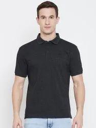 HARBOR N BAY Men Black Solid Polo Collar T-shirt