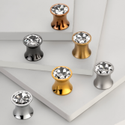 Brass Swarovski Crystal Knob