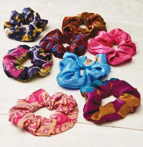 Big Cotton Hair Scrunchie One Size  Summer Prints