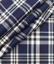 Cotton Uniform Check Fabric, 100 Gsm, Blue