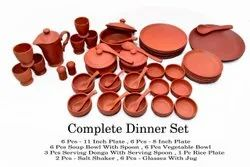 Mitti Dinner Set Clay Ware, Packaging Type: Box