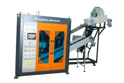 2700 BPH 2 Cavity Automatic Stretch Blow Moulding Machine with Air Recovery System.