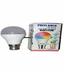 Priti Gold Round 9 W Coloured LED Bulb( 3 in 1), Base Type: B22