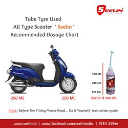 Anti Puncture Tyre sealant for Access Scooter