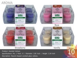 Round Scented Votive (S) Pack of 6