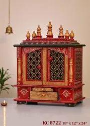 Nirmala Handicrafts Wooden Craft Embossed Work Temples Medium Size Home Decor & Wall Mount