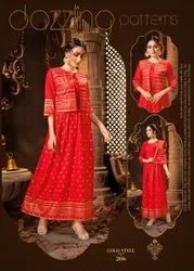 Red and Golden Kurti