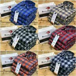 Mens 100% Cotton Mill Made Yarn Dyed Checks Shirt (Bp58-P), Check/stripes, Multicolour