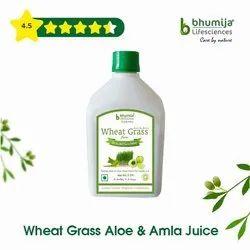 Wheat Grass Juice With Aloe Vera & Amla 1000ml.