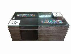 4.2 X 2.5 Feet 15 Kg Wooden Modular Center Table